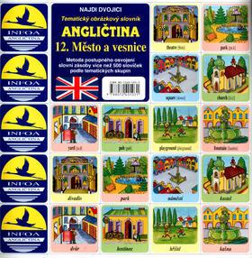 Angličtina 12. Město a vesnice - Tematický obrázkový slovník - Antonín Šplíchal