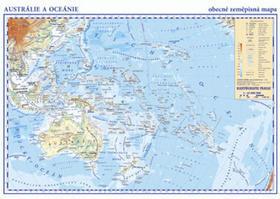 Austrálie a Oceánie - laminátový separát 1:42 000 000
