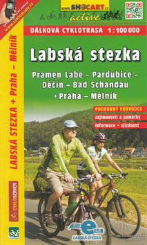 Labská stezka, Pramen Labe - Bad Schandau - Praha - Mělník 1:100 000