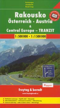 Automapa Rakousko a Střední Evropa tranzit 1:500 00/1:1 500