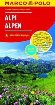 Alpy Alpi Alpen 1:800 000