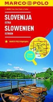 Slovinsko, Istrie 1:800 000 - Slovenija Istra Slowenien Istrien