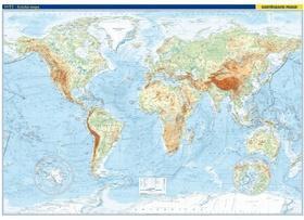 Svět nástěnná fyzická mapa - nástěnná mapa