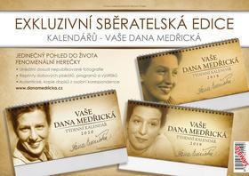 Sběratelská edice Vaše Dana Medřická - stolní kalendáře 2018, 2019 a 2020
